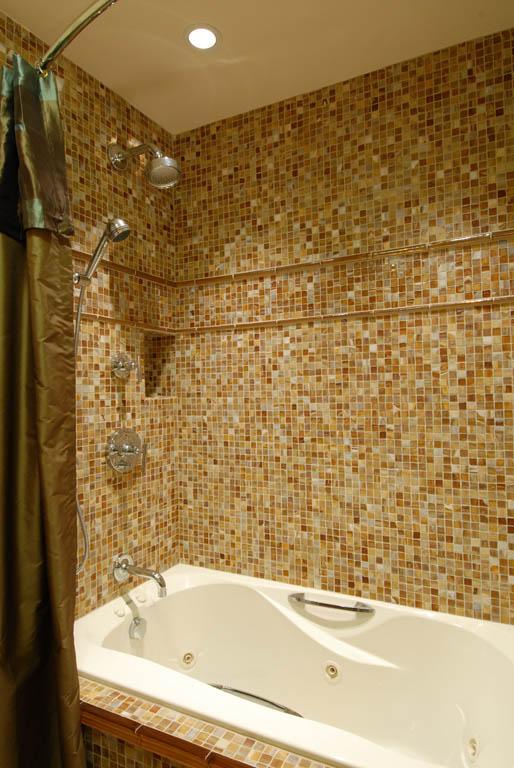 bathroom glass tile tub accent pearl bathroom mosaic tiles wall floor for
