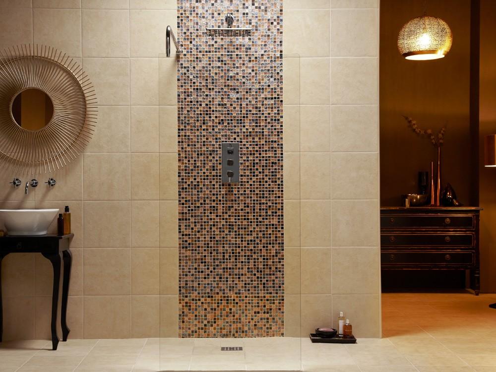 Bathroom Tiles Mosaic Border beautiful bathroom tiles mosaic border in the shower with decor